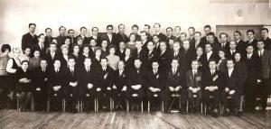Коллектив Института философии и социологии АН БССР в год празднования 40-летия Академии наук (1969)